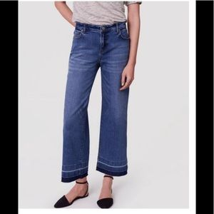LOFT modern wide leg crop jeans 6